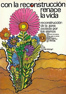 Water for Cabildo:  Poster for voluntary youth summer work programs, Chile, 1972