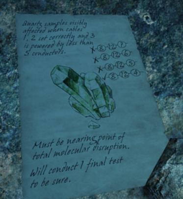 Note explaining something about how quartz is powered