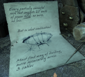 Note found on Throne Chair Controls